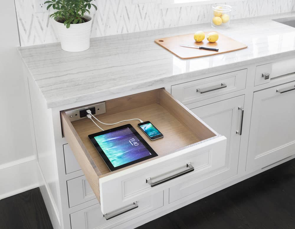 Charging Station Family Friendly Kitchen Design