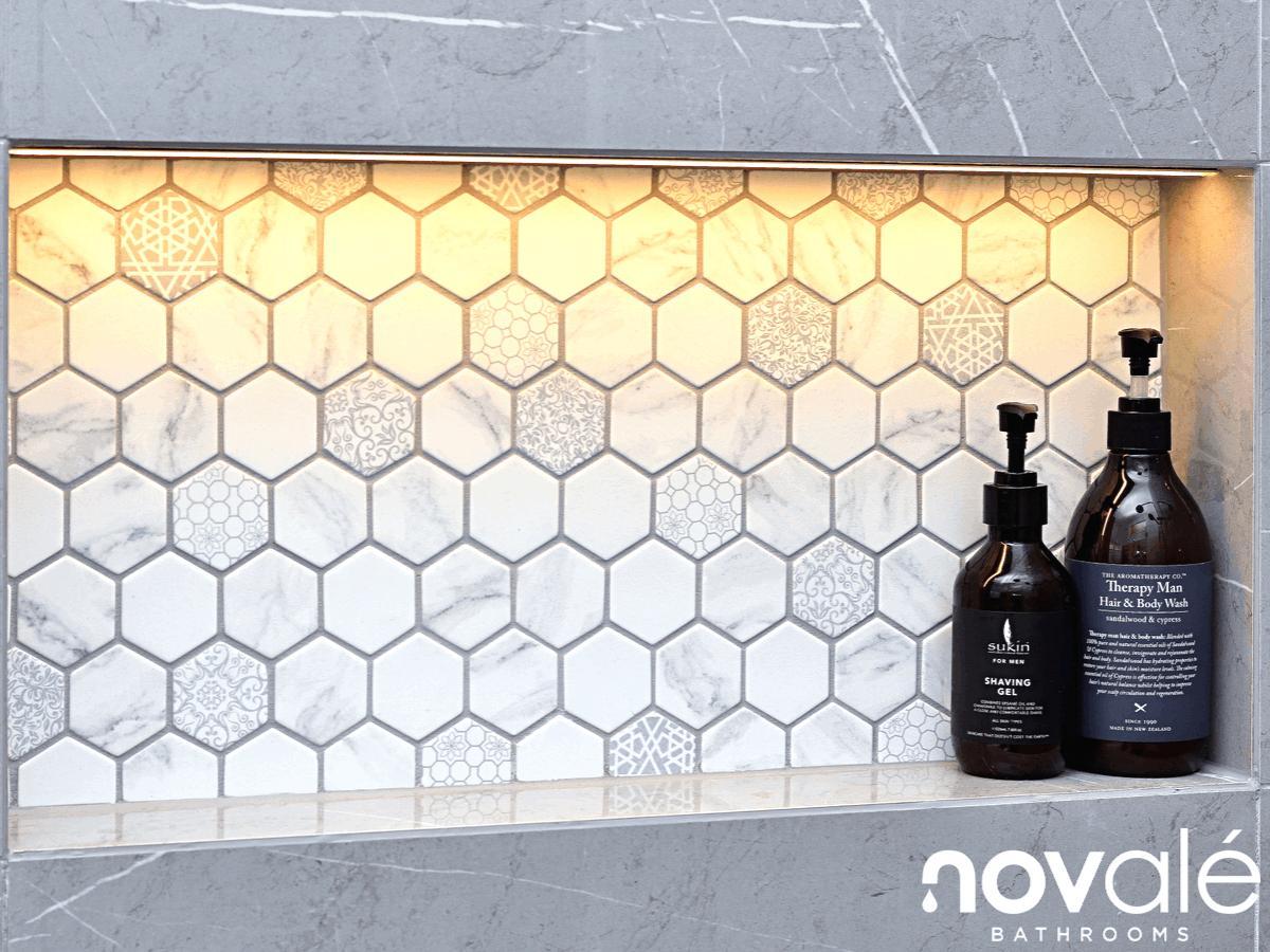 biggest bathroom trend 2019 patterned tiles