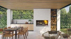 Escea EK series outdoor wood fireplaces BBQ Abbey Fireplaces Sydney