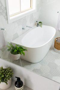 Back-to-wall bath sydney bathroom renovation