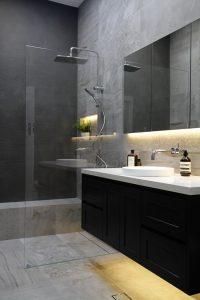 Bathroom lighing LED vanity shaving cabinet renovation sydney Integriti Projects