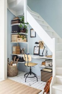 Home Office Planning Under Stairs