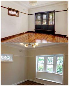 Living room renovation Californian bungalow sydney