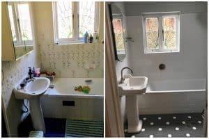 bathroom renovation window restoration renovation Californian bungalow sydney