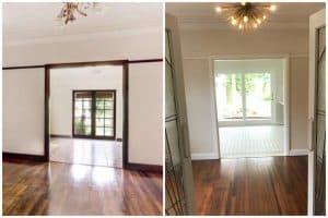 living room restoration art deco renovation Californian bungalow sydney